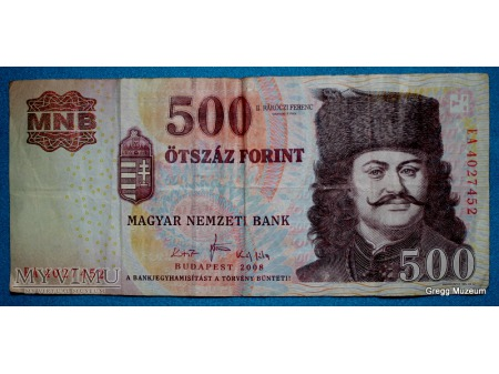 500 FORINT 2008 WĘGRY