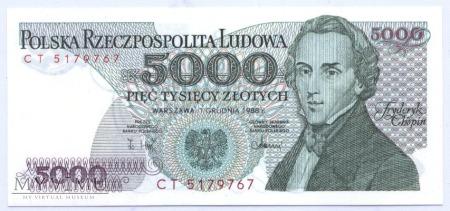 5000 złotych - 1988.