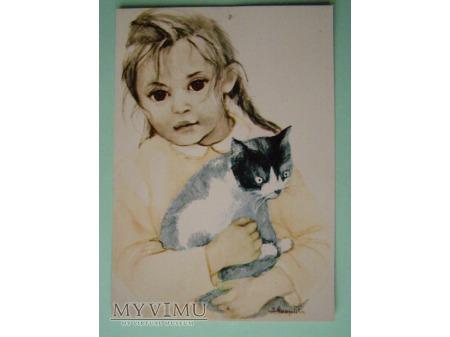 1.Dziewczynka z kotem