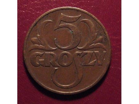 5 groszy z 1938r.