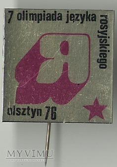 7 OLIMPIADA JĘZYKA ROSYJSKIEGO OLSZTYN 1976