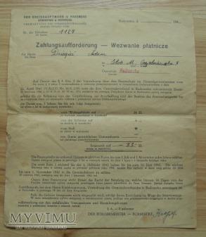 wezwanie płatnicze, GG, rok 1942