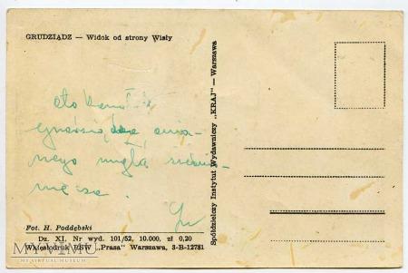 Grudziądz 1952 - Widok od strony Wisły