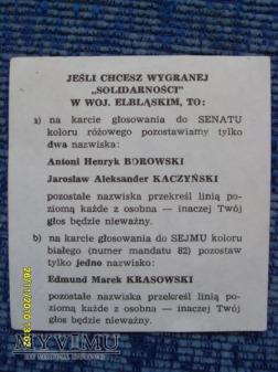 "Agitka ""Solidarności"" (7szt.) -1989r."