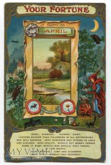 c . 1910 Czarownica nietoperz wróżba dla Ciebie