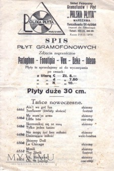 Polska Płyta -reklama