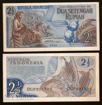 Indonesia - P 79 - 2 1/2 Rupiah - 1961
