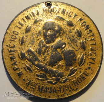 1891. Polska/USA. Medal Konstytucja 3-go Maja.