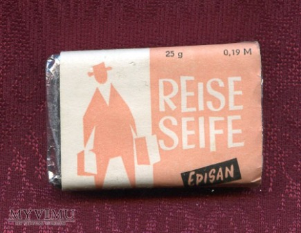Mydełko podróżne, hotelowe - Episan - NRD DDR