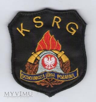 Emblemat OSP KSRG ze znakiem PSP