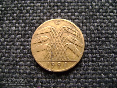 10 pfennigów 1925 G