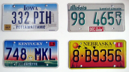 Duże zdjęcie Stanowe tablice rejestracyjne pojazdow