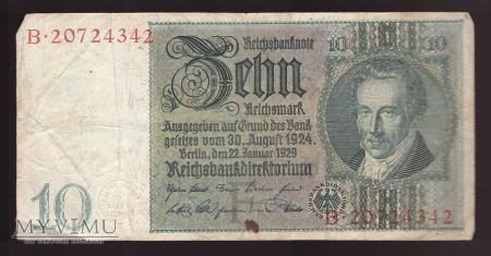 Niemcy, 10 marek 1929r Ser.B