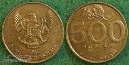 Indonezja, 500 RUPIAH 2002