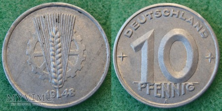 Niemcy, 10 PFENNIG 1948 A