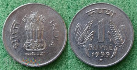 Indie, 1 rupia 1999