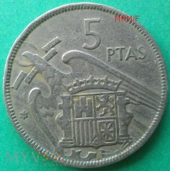 5 ptas Hiszpania 1957