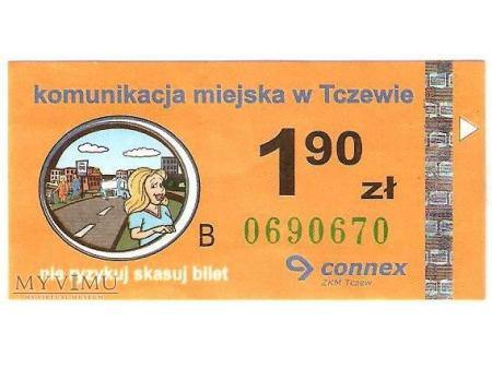 Bilet komunikacji miejskiej z Tczewa