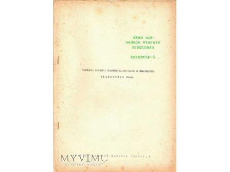 Instrukcja serwisowa gramofonu TRANZYSTON WG-291