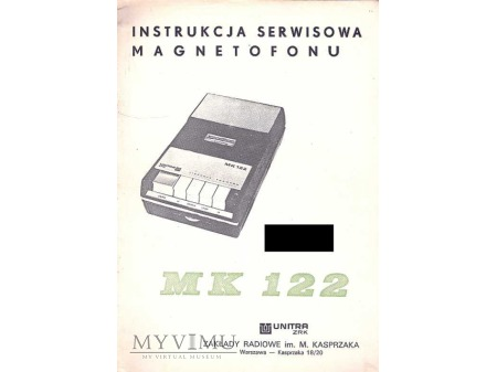 Instrukcja serwisowa magnetofonu MK-122
