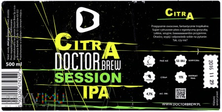 Doctor Brew, Citra