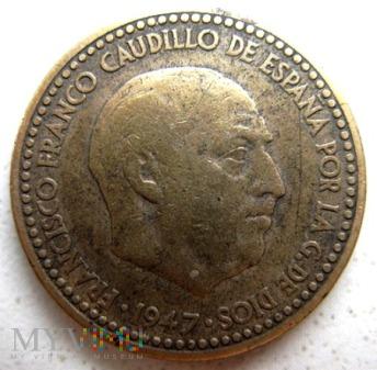1 peseta 1947 r. Hiszpania