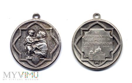 Medalik 700-lecia śmierci św. Antoniego z Padwy