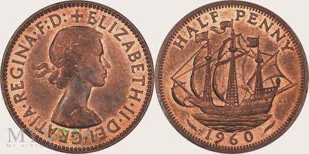 Wielka Brytania, half penny 1960