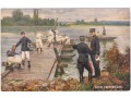 Armia Francuska - Budowa mostu - 1914