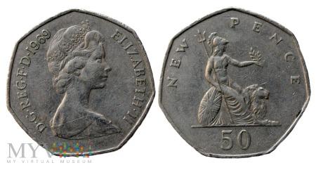 Wielka Brytania, 50 pence 1969