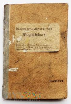 Deutscher Metallarbeiter-Verband Mitgliedsbuch