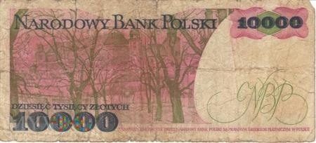 POLSKA PRL 10000 ZŁOTYCH 1987
