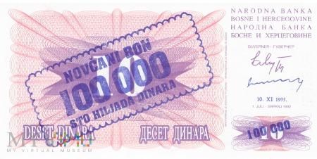 Bośnia i Hercegowina - 100 000 dinarów (1993)
