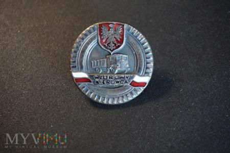 Odznaka honorowa - Wzorowy Kierowca - srebrna