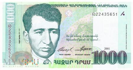 Armenia - 1 000 dramów (2001)