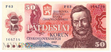 Czechosłowacja - 50 koron (1987)