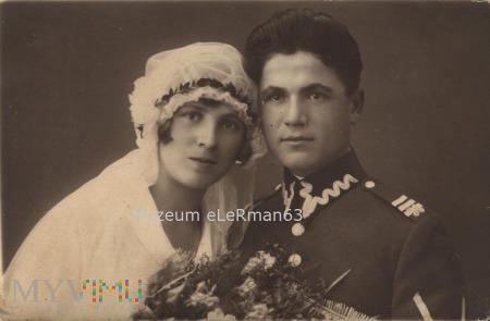 Zdjęcie ślubne plutonowego 38 PPSL. Przemyśl.