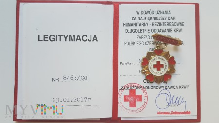 Legitymacja Odznaki ZHDK - I stopień