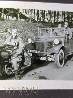 Niemcy - Fotografie z albumu - na motocyklu