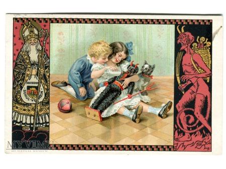 1933 KRAMPUS - diabeł, który STRASZNIE lubi dzieci