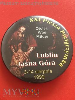 Przypinka XXI PP Lublin- Jasna Góra 1999