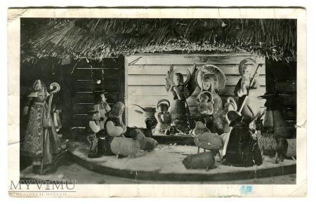 Duże zdjęcie 1954 Świąteczna Szopka Jezusek Święta FOTO