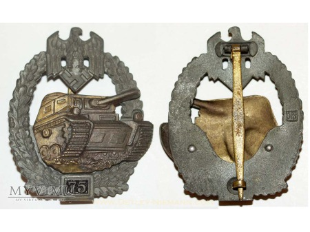 Panzer Kampf Abzeichen in Silber