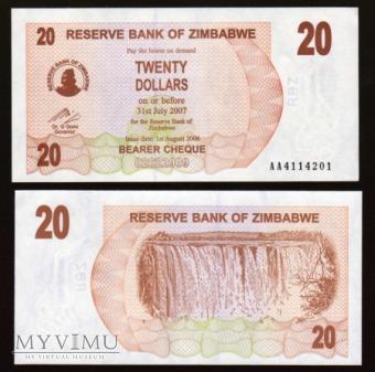 Zimbabwe - P 40 - 20 Dollar - 2006