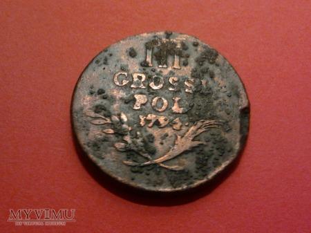 III grosze 1794 r. (trojak kosciuszkowski).