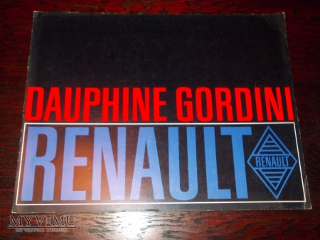Prospekt RENAULT DAUPHINE GORDINI