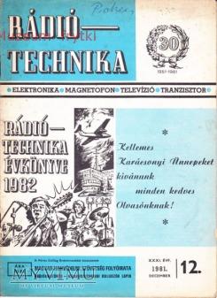 Duże zdjęcie RADIO TECHNIKA 1981r. nr.12