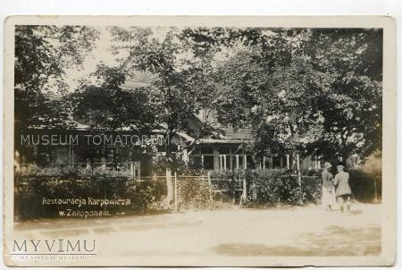 Duże zdjęcie Zakopane - Restauracja Karpowicza - 1920/30
