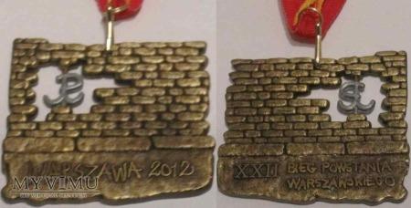 186. Medal XXII Bieg Powstania Warszawskiego 2012