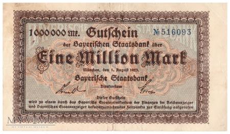 Niemcy (Bay. Staatsbank) - 1 000 000 marek (1923)